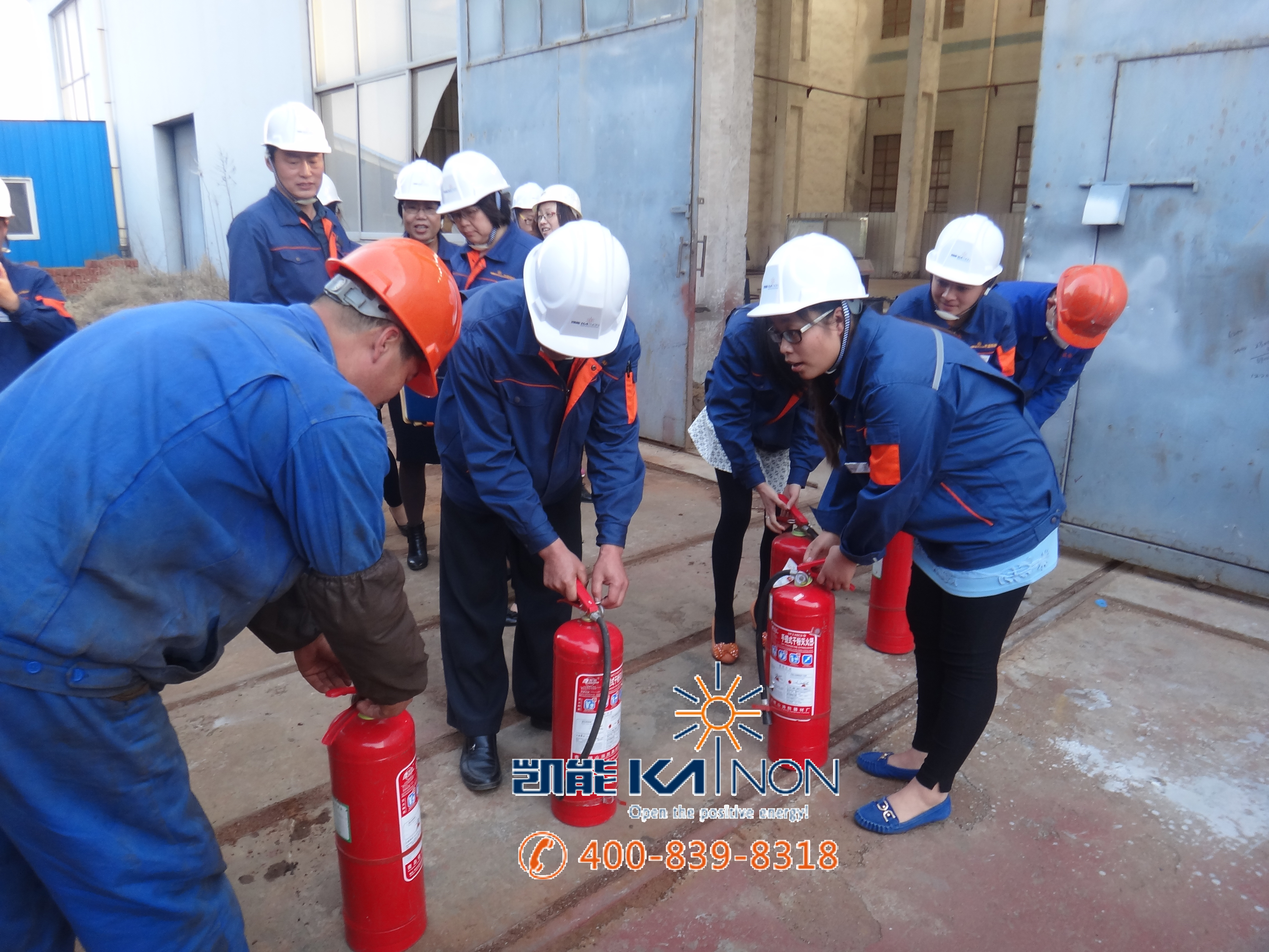 青岛凯能锅炉公司消防演习|凯能船用锅炉相册|青岛凯