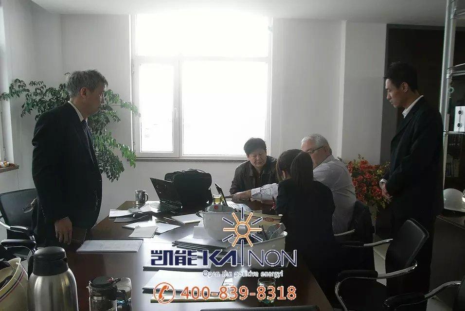 保加利亚客户来凯能锅炉交流合作